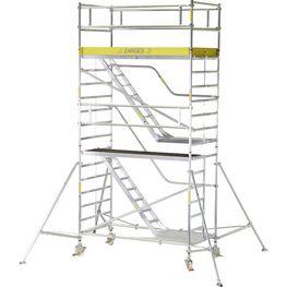 ZARGES Állvány Z600 kitámasztóval és lépcsőkkel